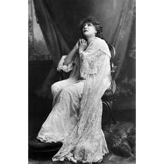 Sarah Bernhardt (1844-1923). /Nfrench Actress. Photographed C1885 In The Ro