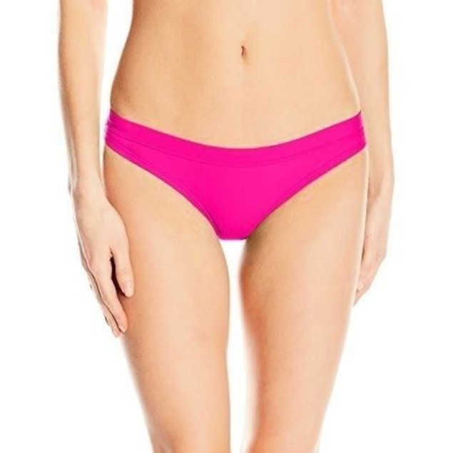 Speedo Women's Powerflex Eco Solid Swimsuit Bottom, Power Pink, Size M