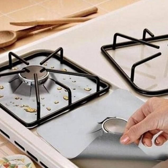 Reusable teflon coated stove covers.