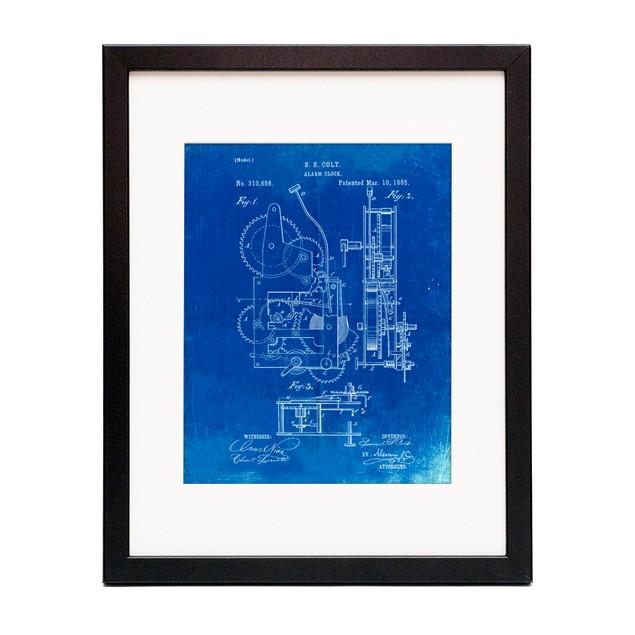 Vintage Alarm Clock Patent Poster