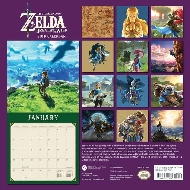 Legend of Zelda Wall Calendar, Gamers by Calendars