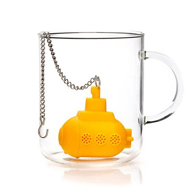 Silicone Yellow Submarine Loose Leaf Tea Infuser