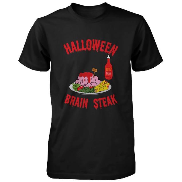 Halloween Brain Steak for Zombie Shirt Funny Tshirt for Horror Night  Tee