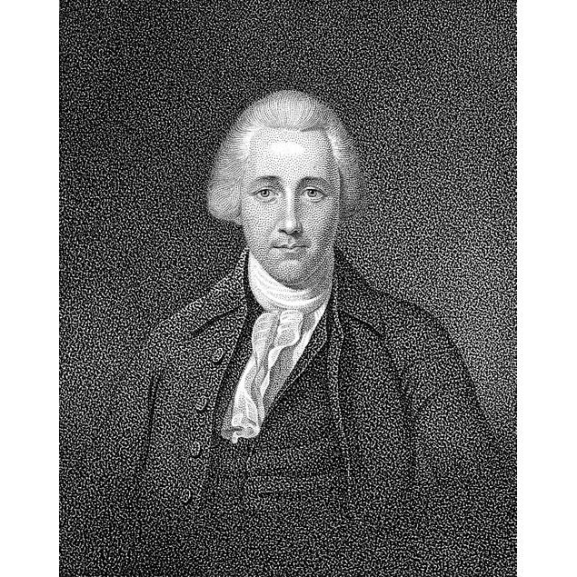 William Bradford (1755-1795). /Namerican Lawyer. Aquatint, American, 1857.