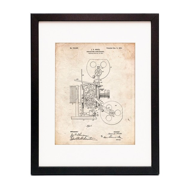 Projecting Kinetoscope Patent Poster