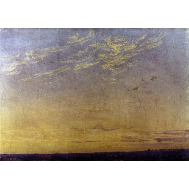 Friedrich: Evening, 1824. /N'Evening With Clouds.' Oil On Board By Caspar D