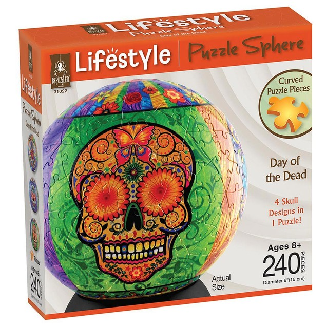 Day of the Dead 240 Piece Sphere Puzzle, University Games by University Gam