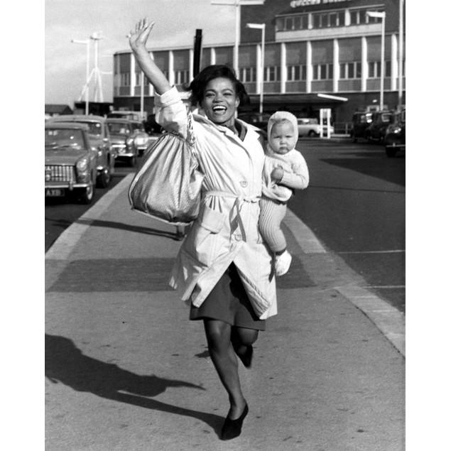Eartha Kitt carrying daughter Poster