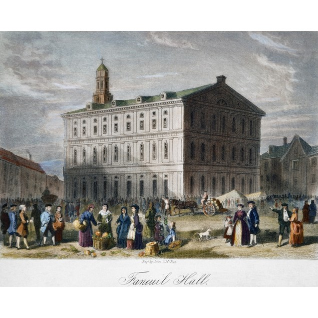 Boston: Faneuil Hall, 1776. /Nfaneuil Hall, Boston, Massachusetts, As It Ap