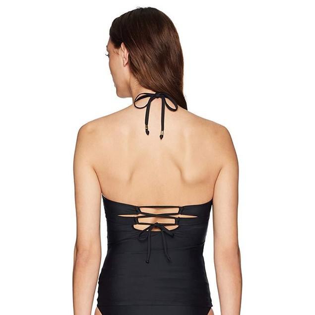 Ella Moss Women's Swimsuit Tankini Top, Crafty Black, Medium
