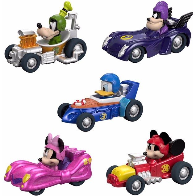 Disney Mickey & The Roadster Racers Hot Rod Vehicles 5 Pack