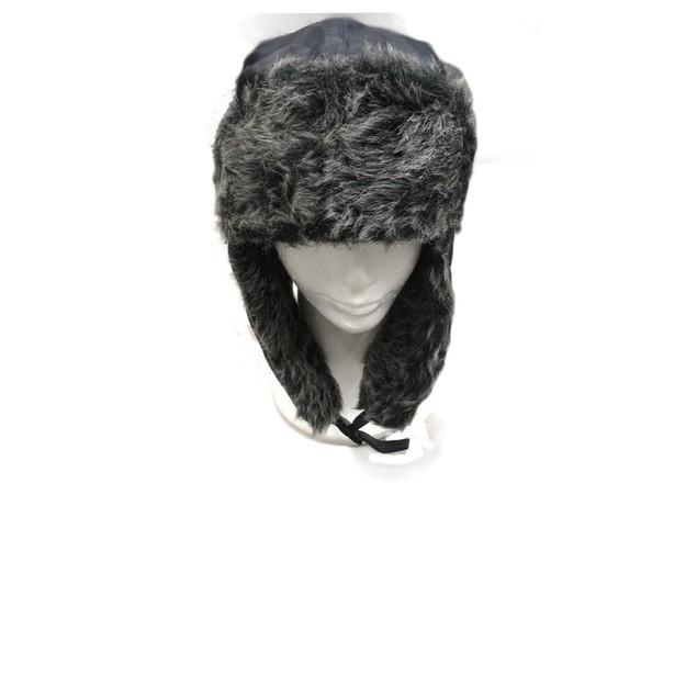 Winter Trooper Trapper Flap Cap Hat with Faux Fur Lining Hat