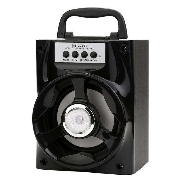 Bluetooth Wireless Portable Speaker Super Bass with USB/TF/AUX/FM Radio