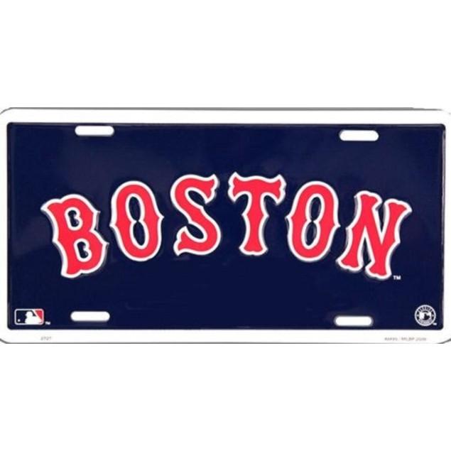 Boston Red Sox MLB Blue License Plate