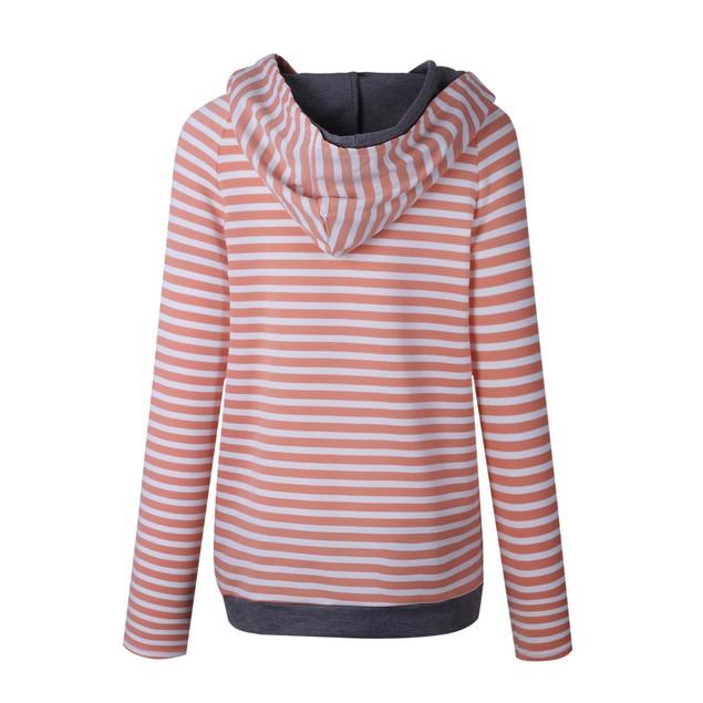 Women's Striped Hoodie