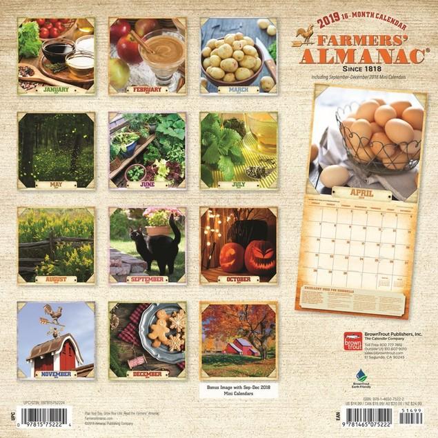 Farmers Almanac Gardening Wall Calendar, Gardens by Calendars