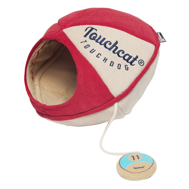 Touchcat Saucer Oval Collapsible Walk-Through Pet Cat Bed House With Toy
