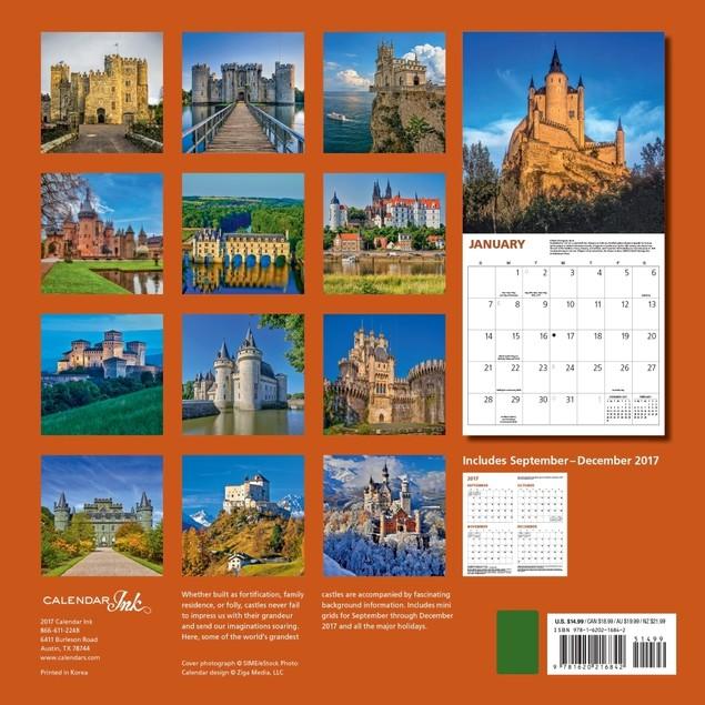 Castles Wall Calendar, All Calendar Ink by Calendars