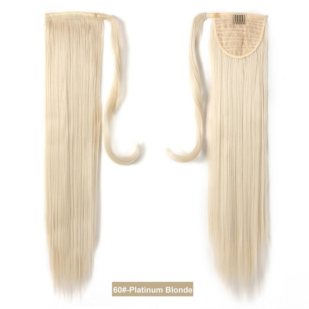 OneDor 24 Inch Straight Wrap Around Ponytail Hair Extension - Choose Color