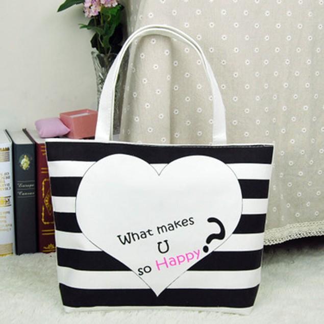 Canvas Cute Pattern Shopping Shoulder Bag