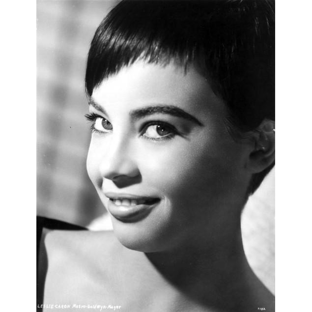 Leslie Caron Portrait in Close Up Poster