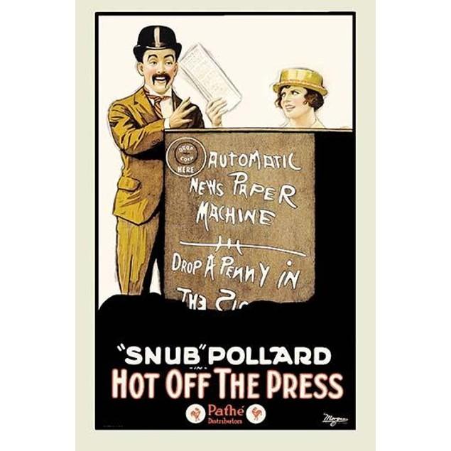 Automatic Newspaper machine Poster