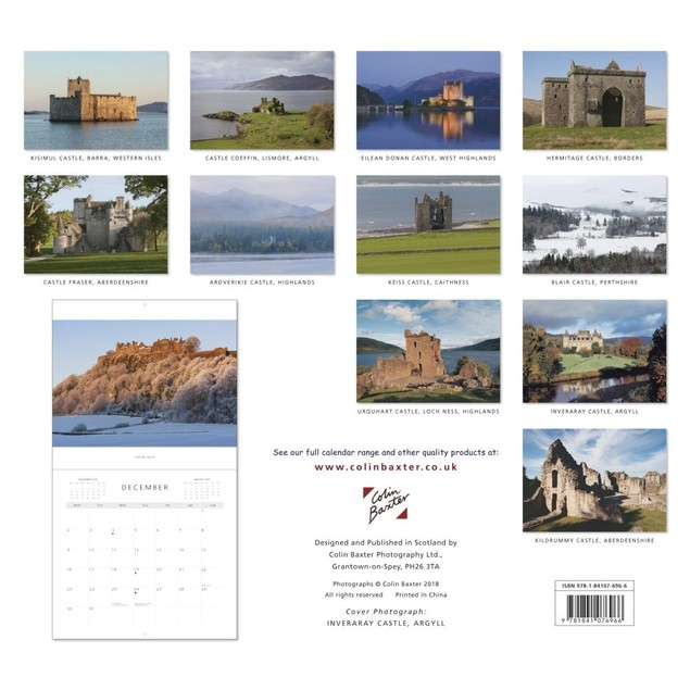 Scottish Castles Wall Calendar, Scotland by Colin Baxter Photography