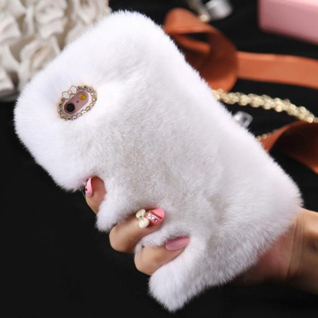 Luxury Fluffy Villi Fur Case Cover For iphone 7 4.7inch