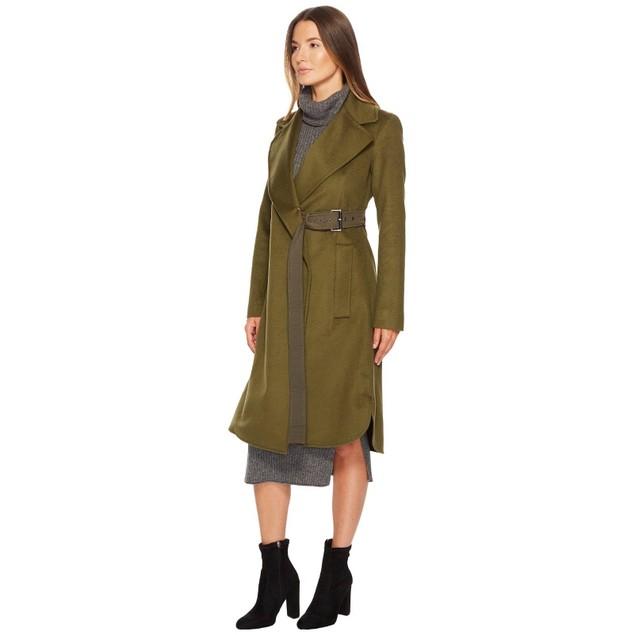 Sportmax Women's Ordito Tie Waist Coat Khaki 2