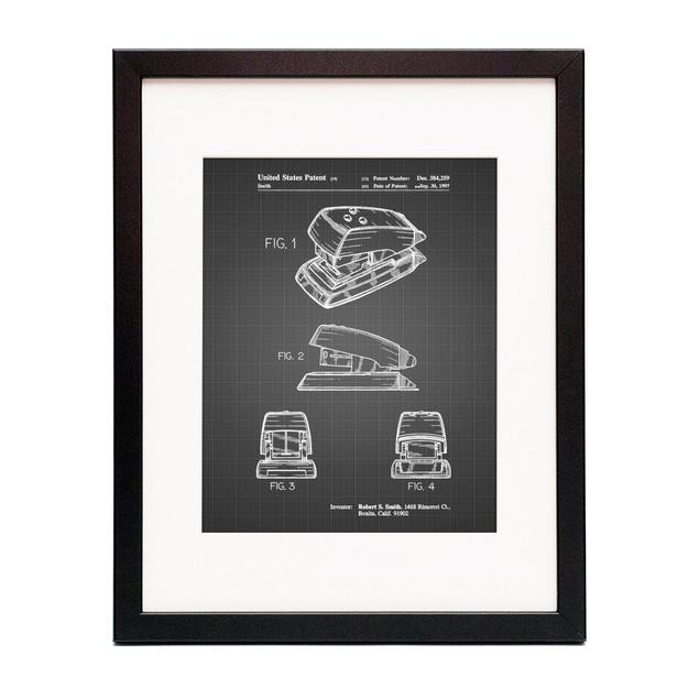 Mini Stapler Patent Poster