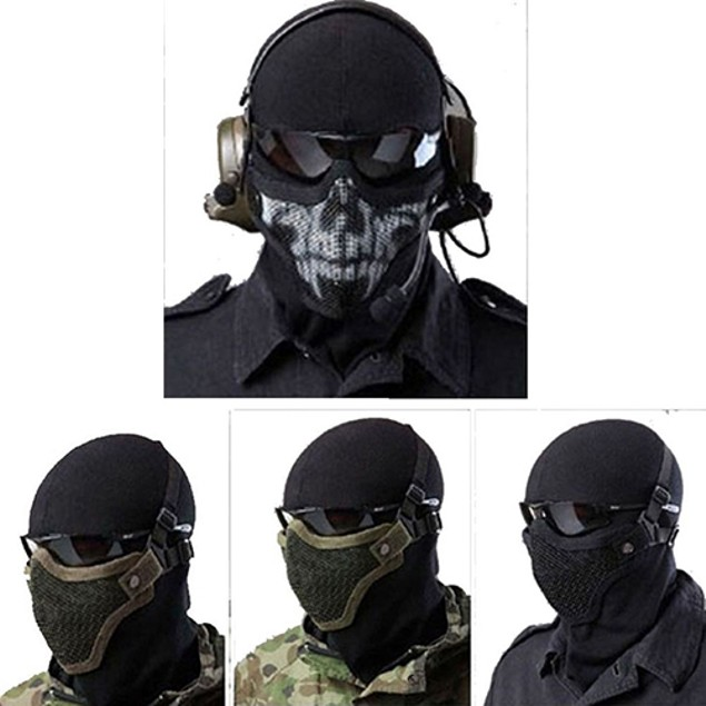 Airsoft Wire Mesh Half Face Mask Tactical Protection