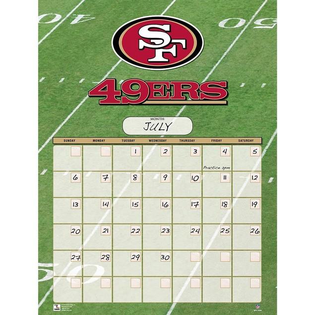San Francisco 49ers Perpetual Calendar