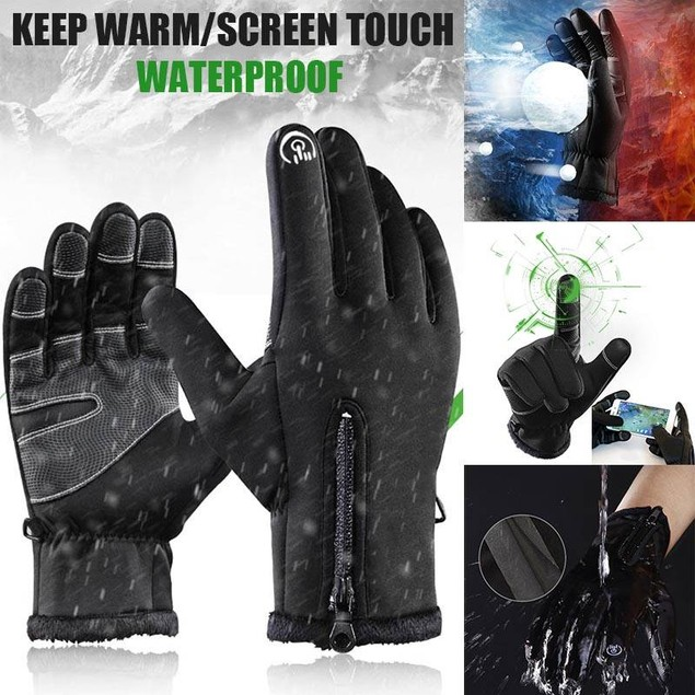 Outdoor Waterproof Touch Screen Anti-skid Sports Gloves