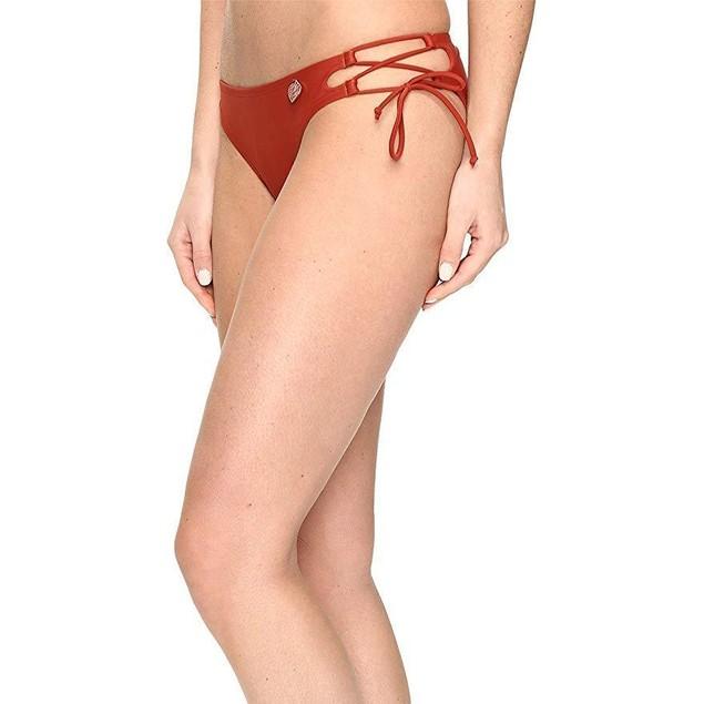 Body Glove Women's Smoothies Tie Side Mia Bottoms Terracotta Sz:  Smal