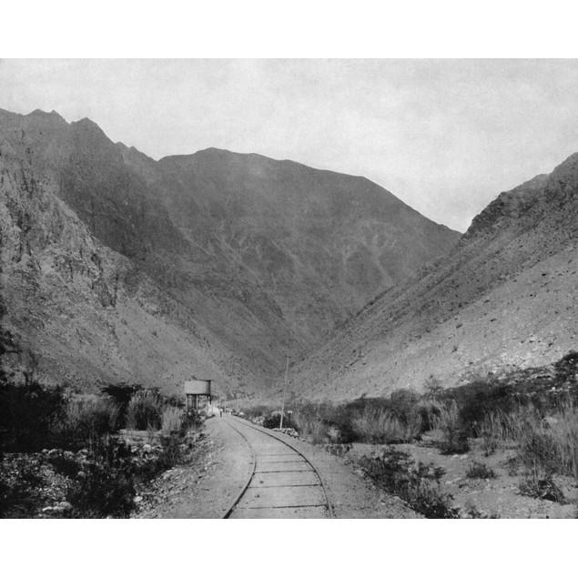 Peru: Railroad, C1890. /Na View Of The Oroya Railroad In Peru, South Americ