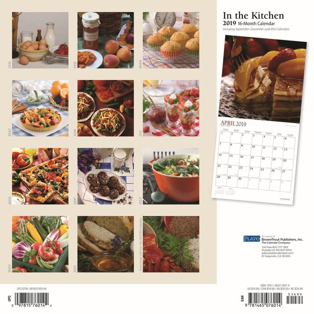 Kitchen Deluxe Wall Calendar, Cooking by Calendars