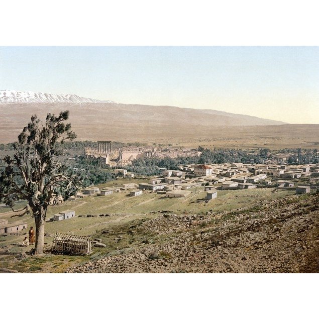 Lebanon: Baalbek. /Nview Of The City Of Baalbek, Including The Ruins Of The