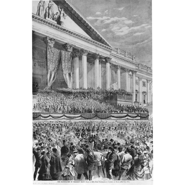 Ulysses S. Grant (1822-1885). /Nthe First Inauguration Of Ulysses S. Grant