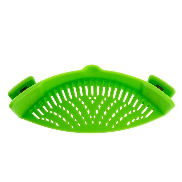New Kitchen Extras Silicone Clip-On Snap and Strainer Clip Colander