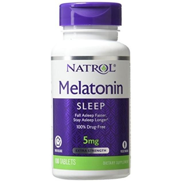 Natrol Melatonin 5mg Time Release 100 Tablets Bottle