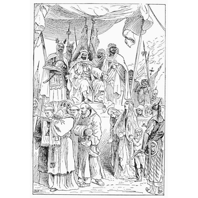 Saladin (1138-1193). /Nsultan Of Egypt And Syria. Saladin Showing Mercy Tow