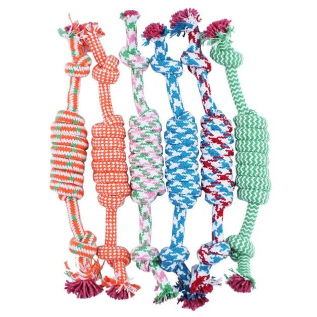 Braided Bone Rope Toy for Dogs - Random Color