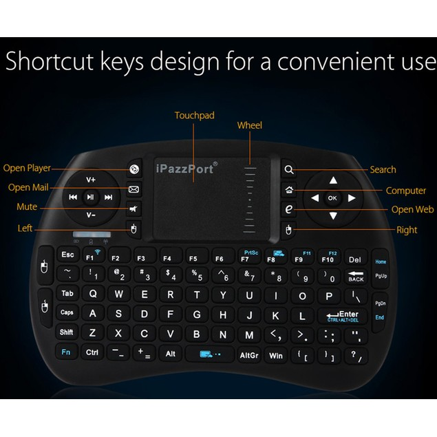 Mini Bluetooth Keyboard Mouse Touchpad for Devices