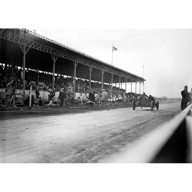 Vanderbilt Cup, 1910. /Namerican Race Car Driver Joe Dawson Driving His 'Ma