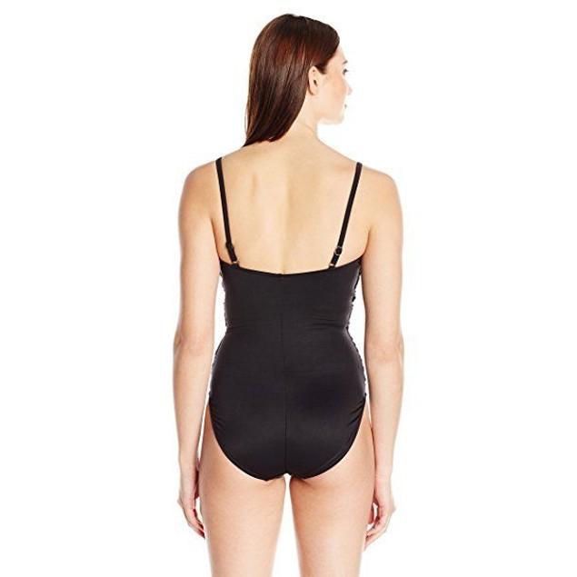 Magicsuit Women's Magic Solids One Piece Surplice Swimsuit Black SZ: 1