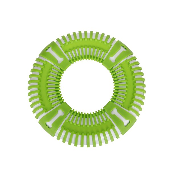 Pet Life Bark Flexible Frisbee Outdoor Training Durable Fetch Dog Toy