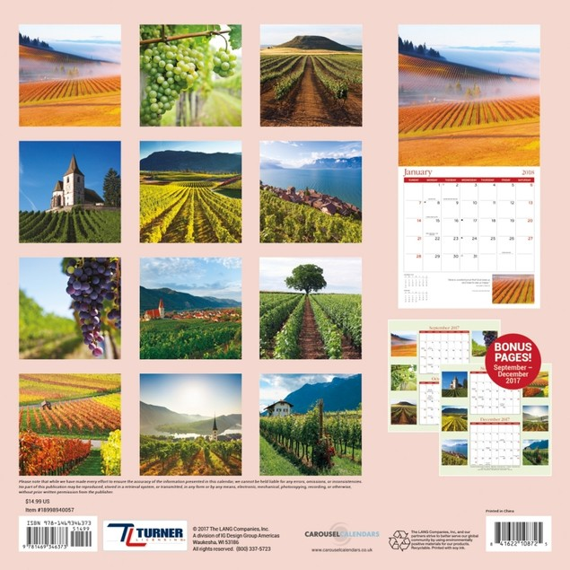 Turner Licensing Vineyards Office Wall Calendar (18998940057)