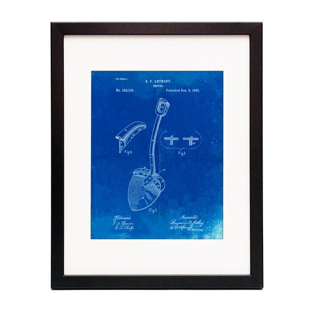 Original Shovel Patent 1885 Patent Poster
