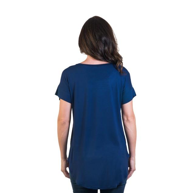 Women's Extra Long Short Sleeve Tunic
