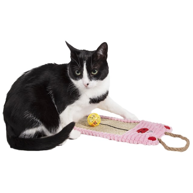 Pet Life Sisal And Jute Hanging Carpet Kitty Cat Scratcher Lounge With Toy